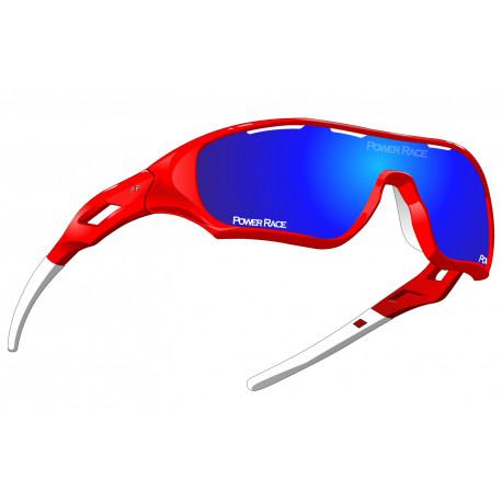 Okulary POWER RACE STAR FIGHTER | kolor czerwono-białe