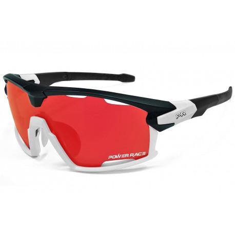 Okulary POWER RACE 15TH | czarno-białe