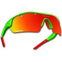 Okulary POWER RACE FALCON | kolor zielono-czerwony