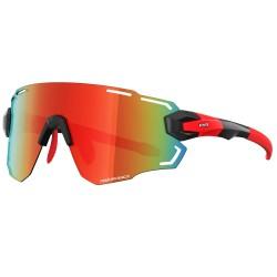 Okulary Power Race Aviator kolor czerwony
